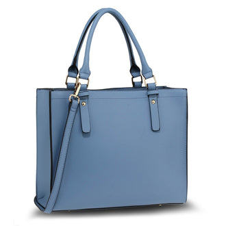 Blue Anna Grace Fashion Tote Bag