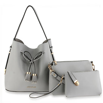 3 Pieces Set Grey Women's Fashion Handbags