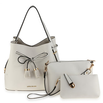 3 Pieces Set Ivory Women's Fashion Handbags