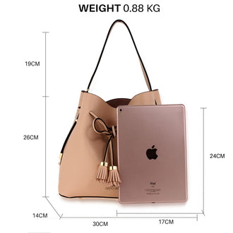 3 Pieces Set Nude Women's Fashion Handbags