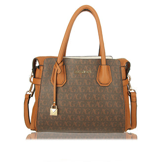 Brown Anna Grace Print Women's Fashion Tote Bag
