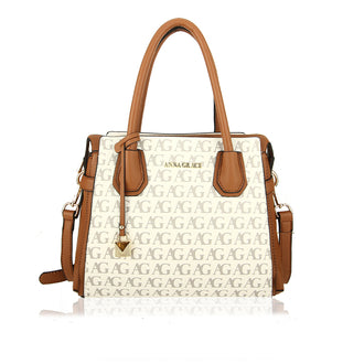 White Anna Grace Print Women's Fashion Tote Bag