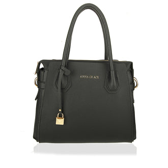 Black Anna Grace Women's Fashion Handbag