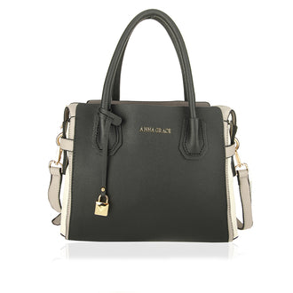 Black / Grey Anna Grace Women's Fashion Handbag