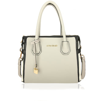 Light Grey / Black Anna Grace Women's Fashion Handbag