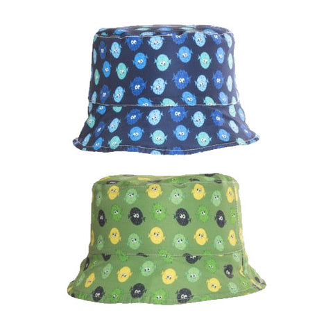 Kids Puffer Fish Print Bush Hat