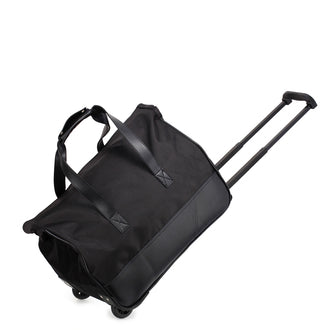 Black Travel Holdall Trolley Luggage With Wheels