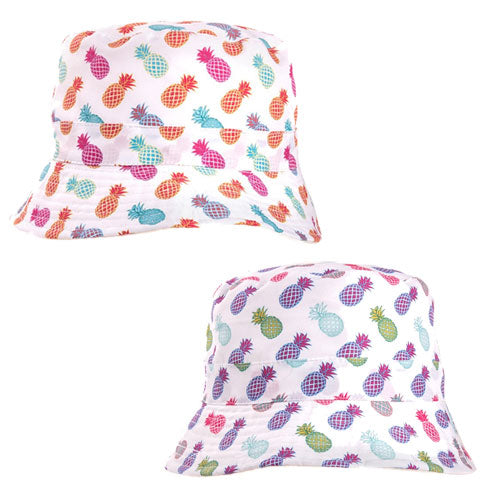 Girls Pineapple Print Bush Hat