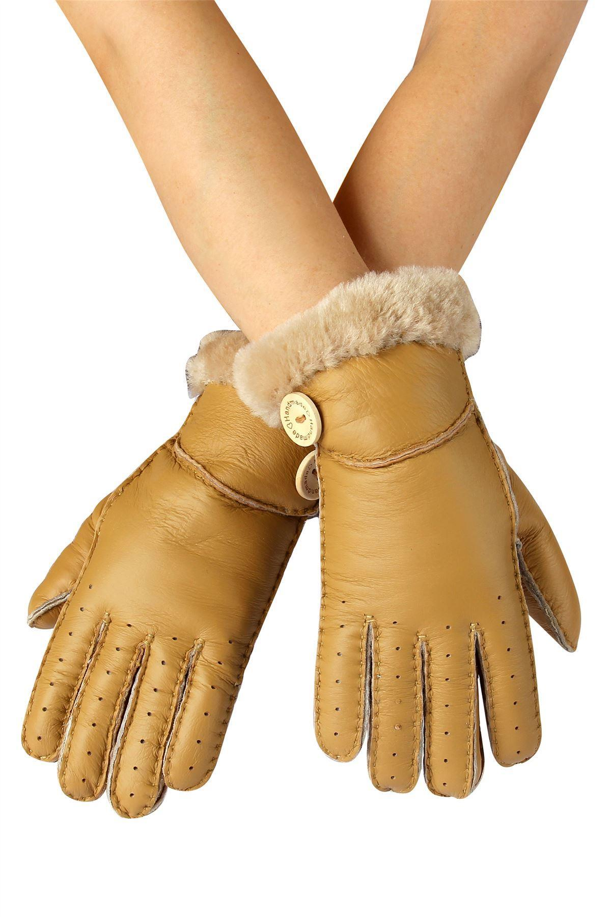 X Handmade Soft Leather Gloves- CAMEL  Leather Gloves