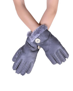 X Handmade Soft Leather Gloves- LIGHT GREY  Leather Gloves