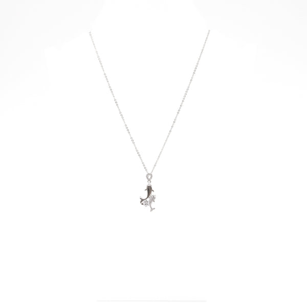 "Unique ""Delfin"" Silver Plated Necklace"