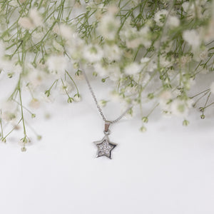 "Unique "" Star"" Silver Plated Necklace"