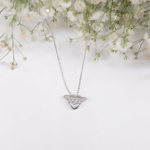 "Unique ""Love"" Silver Plated Necklace"