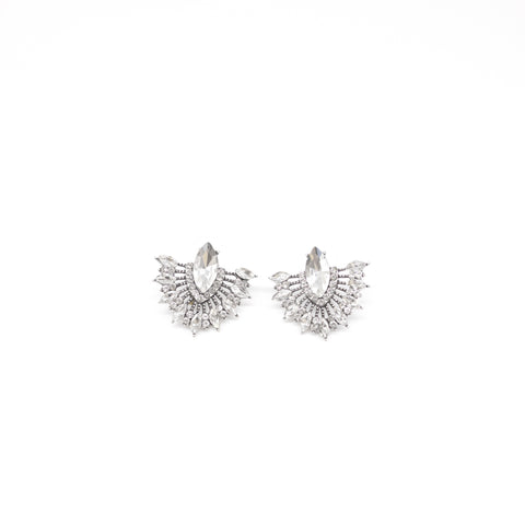 "Unique ""Ariana"" Silver Plated Earring"