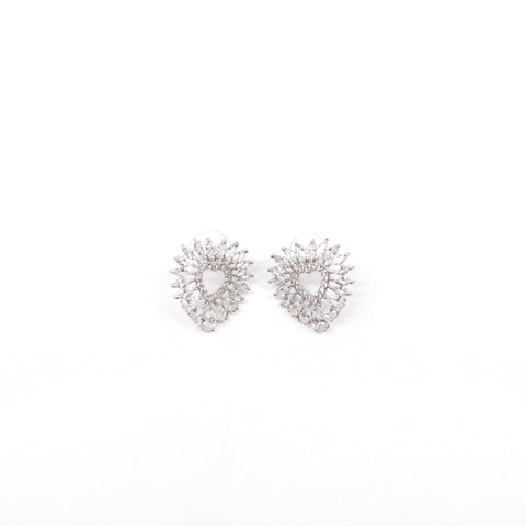 "Unique ""Alliana"" Silver Plated Earring"