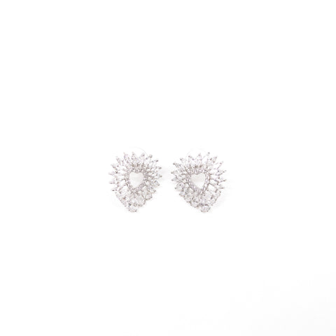 "Unique ""Allana"" Silver Plated Earring"
