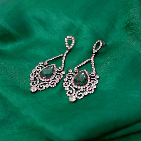 "Unique ""Alexandra"" Silver Plated Earring"