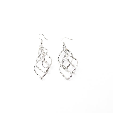 "Unique ""Alivia"" Silver Plated Earring"