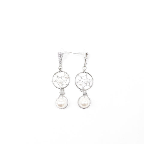 "Unique ""Arianna"" Silver Plated Earring"