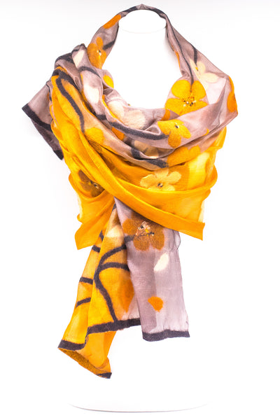 "Unique "" Regina"" Handmade Evening Silk Scarf"
