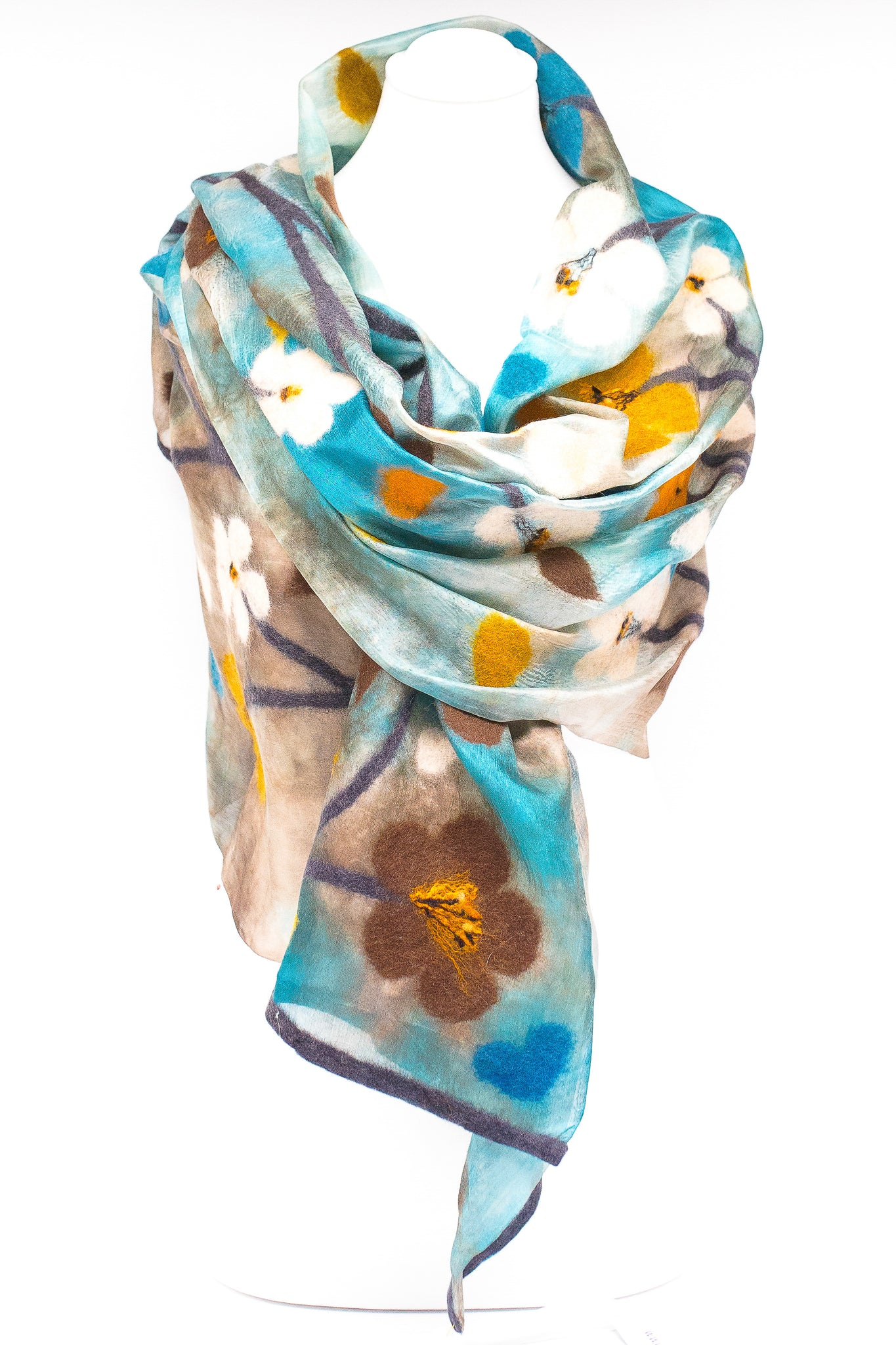 "Unique "" Celine"" Handmade Evening Silk Scarf"