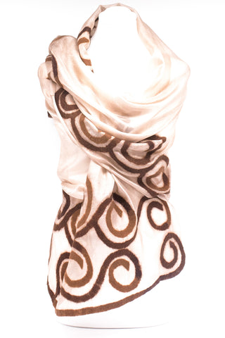 "UNIQUE ""ZAMIRA "" EVENING SILK  SCARF"