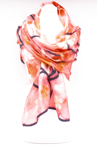 "Unique "" Anahi"" Handmade Evening Silk Scarf"