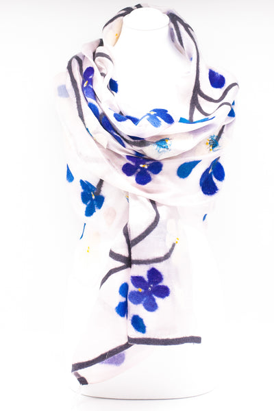 "Unique "" Alia"" Handmade Evening Silk Scarf"