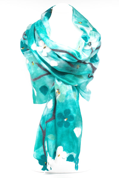 "Unique "" Anya"" Handmade Evening Silk Scarf"