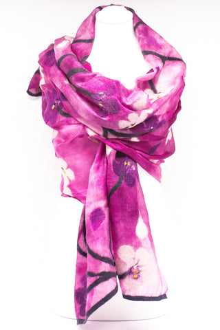 "Unique "" Elora"" Handmade Evening Silk Scarf"