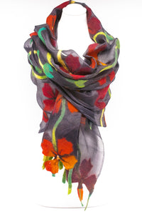 "Unique "" Aliana"" Handmade Evening Silk Scarf"