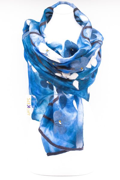"Unique "" Anais"" Handmade Evening Silk Scarf"