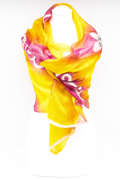 "Unique "" VERONIKA "" Handmade Daily Silk Scarf"