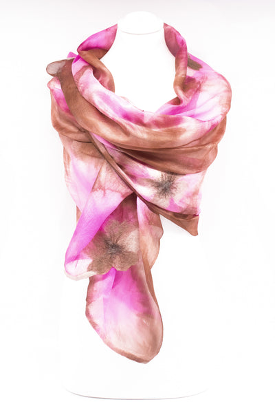 "Unique ""AMORINA"" Handmade Daily Silk Scarf"