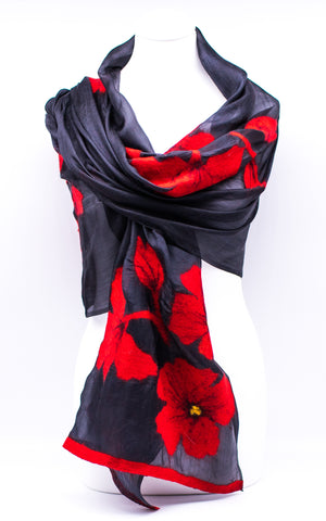 "Unique ""ARIANNA"" Handmade Evening Silk Scarf"