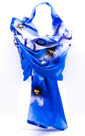 "Unique "" AMELIA"" Handmade Evening Silk Scarf"