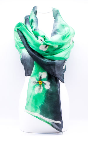 "Unique ""ANASTASIA""Handmade Daily Silk Scarf"