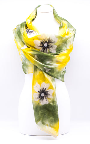 "Unique ""VALERIE"" Handmade Daily Silk Scarf"