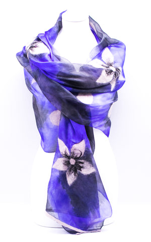 "Unique ""ALINA"" Handmade Daily Silk Scarf"