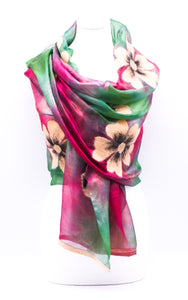"Unique ""ALONDRA"" Handmade Daily Silk Scarf"