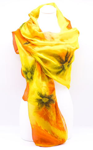 "Unique "" AMIRA"" Handmade Daily Silk Scarf"