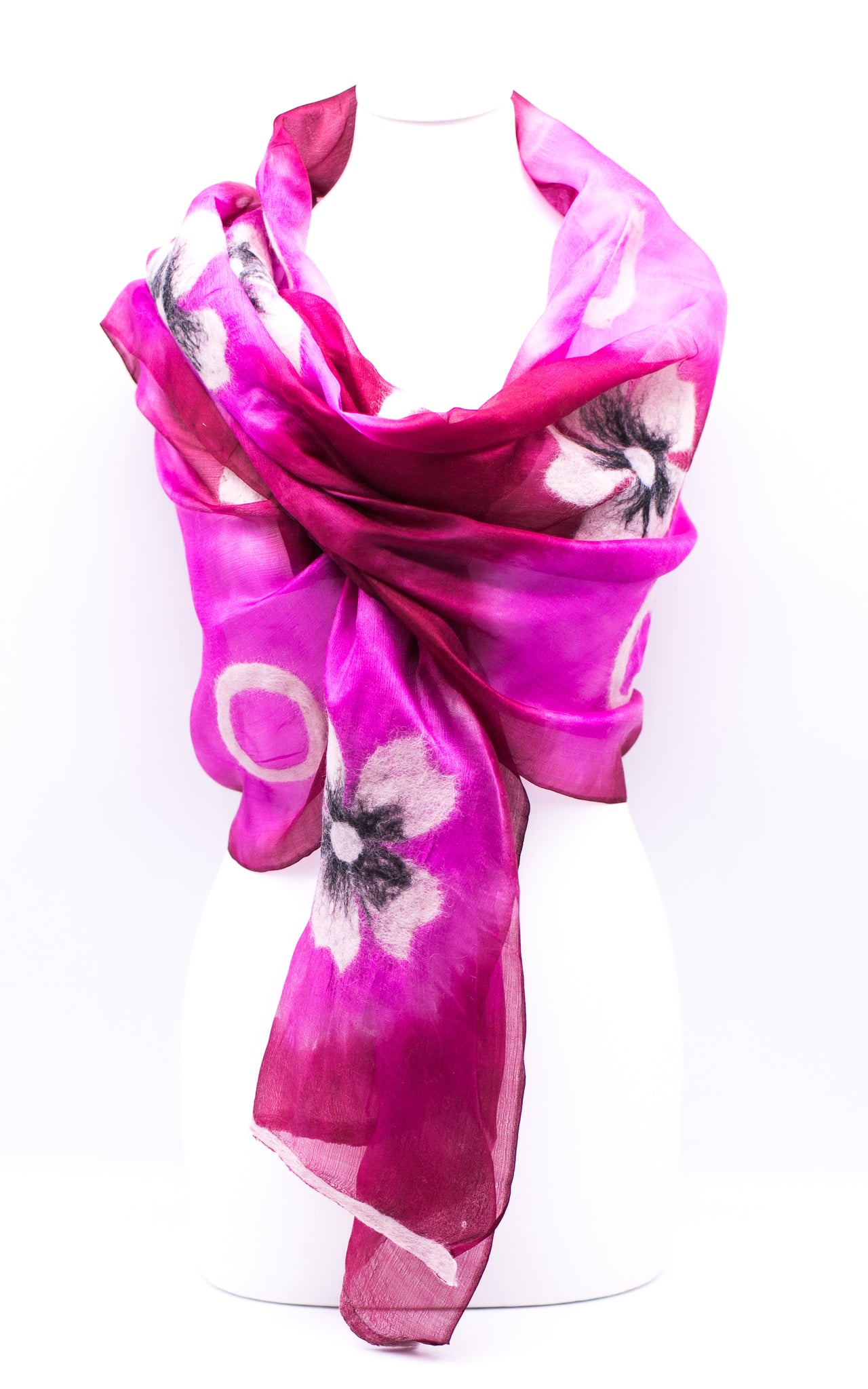"Unique ""ANARA"" Handmade Daily Silk Scarf"