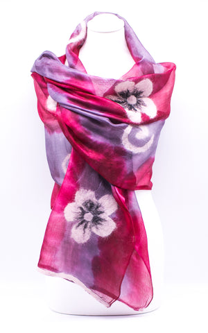 "Unique ""ARIELLA"" Handmade Daily Silk Scarf"