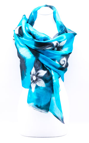 "Unique "" AKUU"" Handmade Daily Silk Scarf"