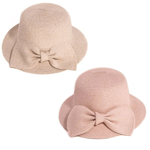 Ladies Straw Hat With Large Bow