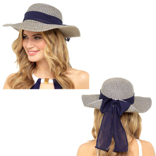 LADIES SUMMER HAT WITH LARGE BOW