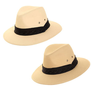 Mens Cotton Fedora With Spotty Band