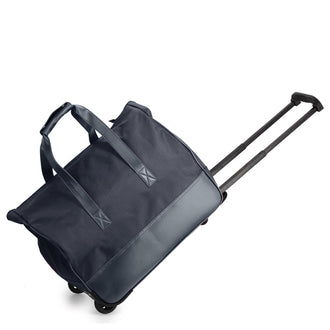 Navy Travel Holdall Trolley Luggage With Wheels