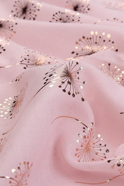 Rose Gold Dandelion Scarf -Click to See Different Colours