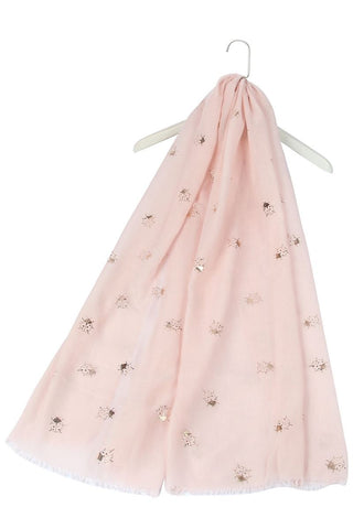 Rose Gold Ladybird Print Cotton Scarf